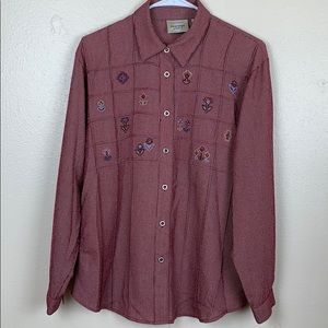 Monterey embroidered top shirt size S